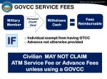 govcc service fees