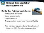 ground transportation reimbursement