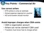 key points commercial air