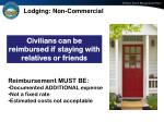 lodging non commercial
