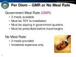 per diem gmr or no meal rate