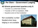per diem government lodging