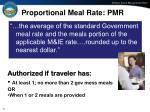 proportional meal rate pmr