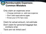 reimbursable expenses common mistakes
