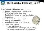 reimbursable expenses cont