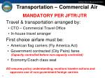 transportation commercial air