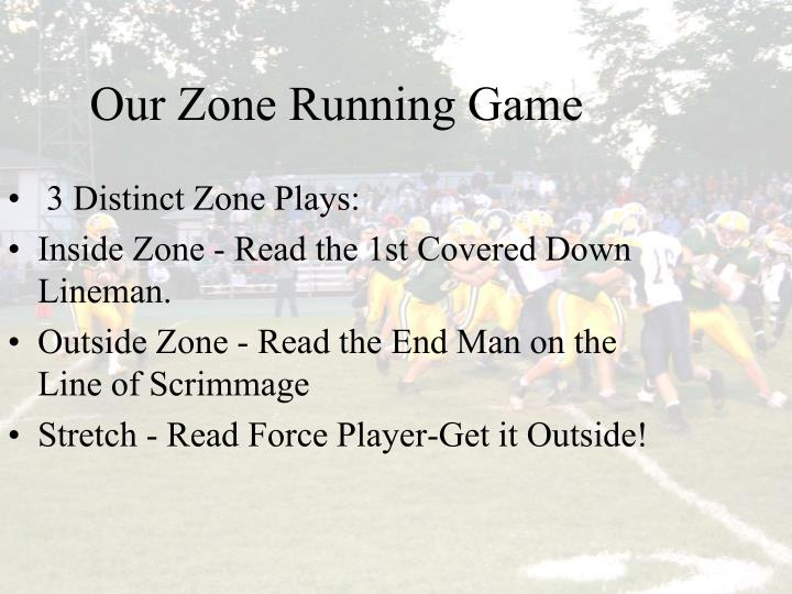 Our Zone Running Game