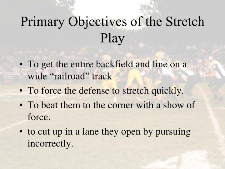 Primary Objectives of the Stretch Play