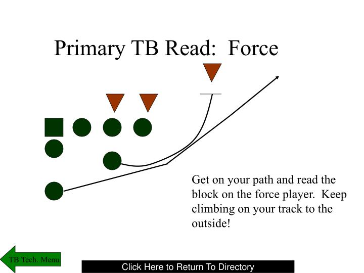 Primary TB Read:  Force
