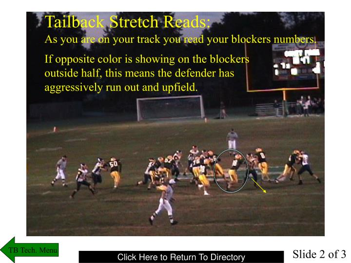 Tailback Stretch Reads: