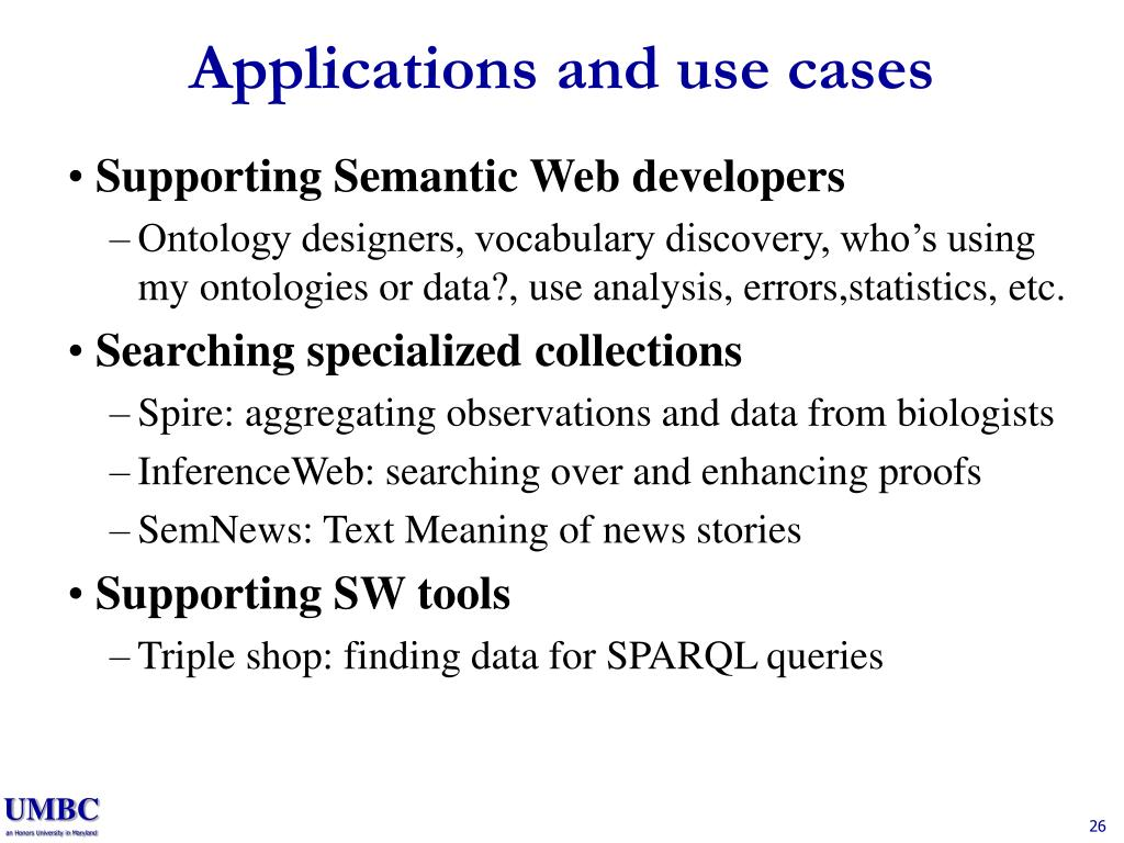 Applications and use cases
