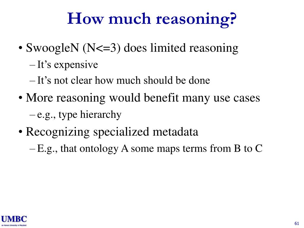 How much reasoning?