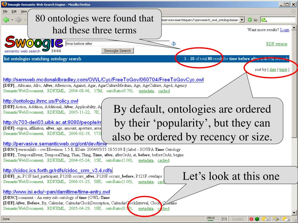 80 ontologies were found that had these three terms