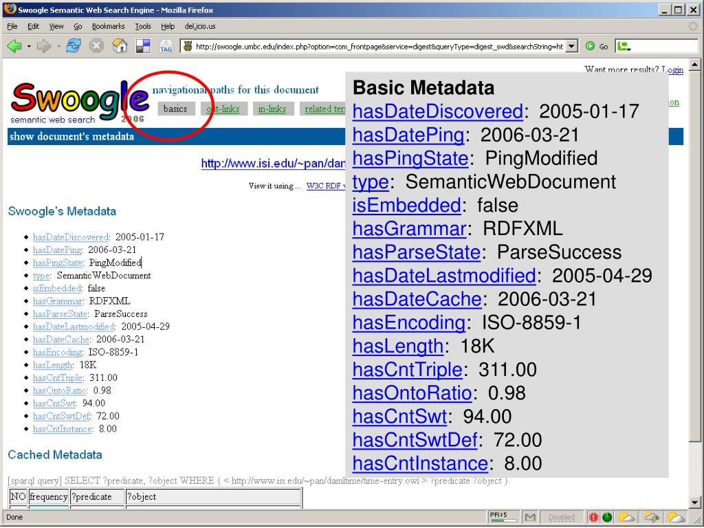 Basic Metadata