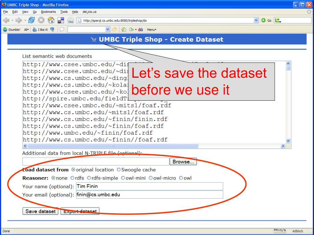 Let's save the dataset before we use it