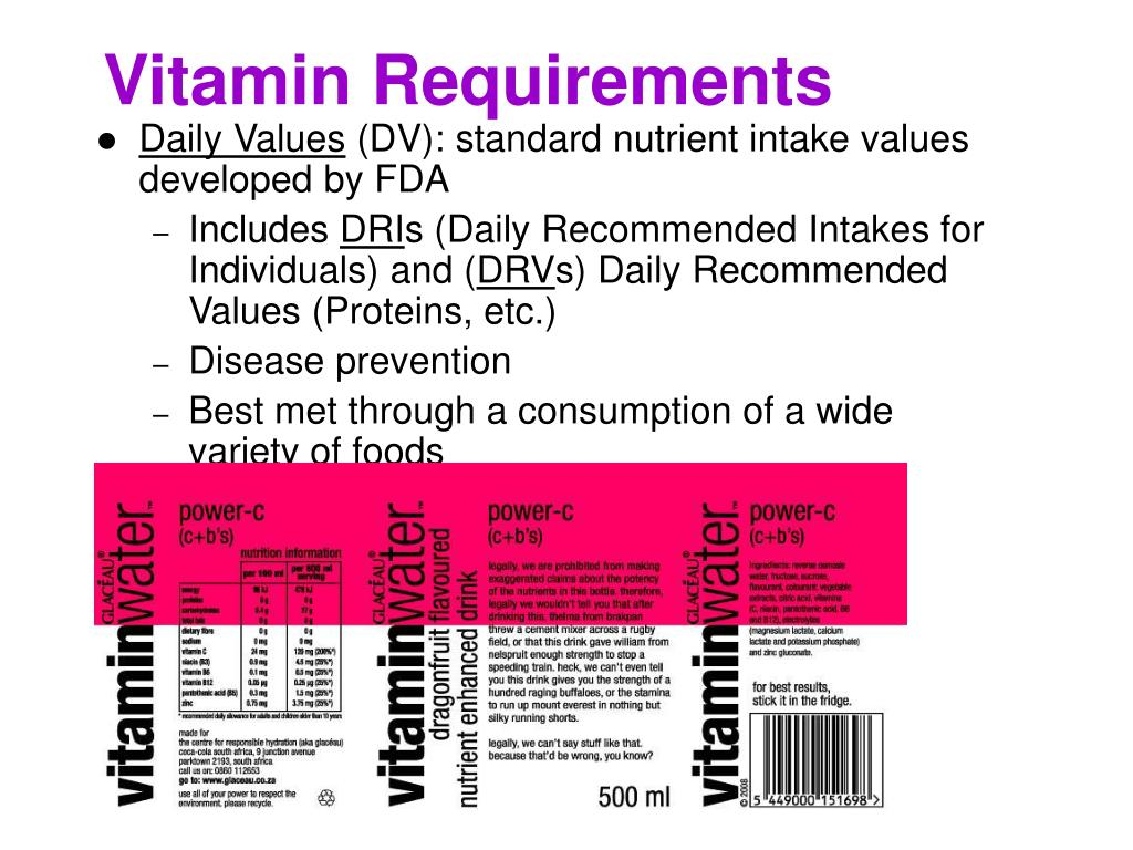 Vitamins And Minerals PowerPoint Presentation