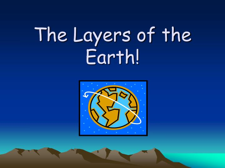 the layers of the earth n.