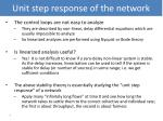 unit step response of the network