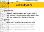 goal and outline