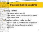 practices coding standards
