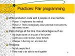 practices pair programming