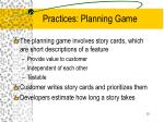 practices planning game