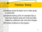 practices testing