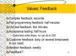 values feedback34