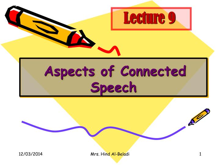 aspects of connected speech n.