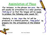 assimilation of place21