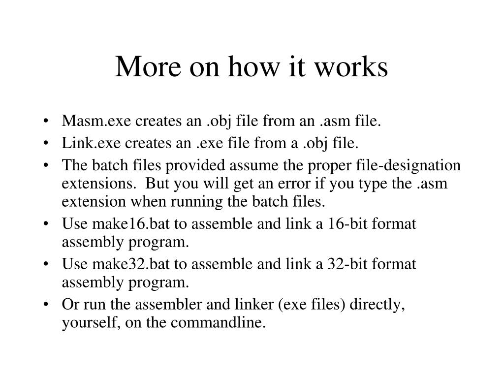 More on how it works