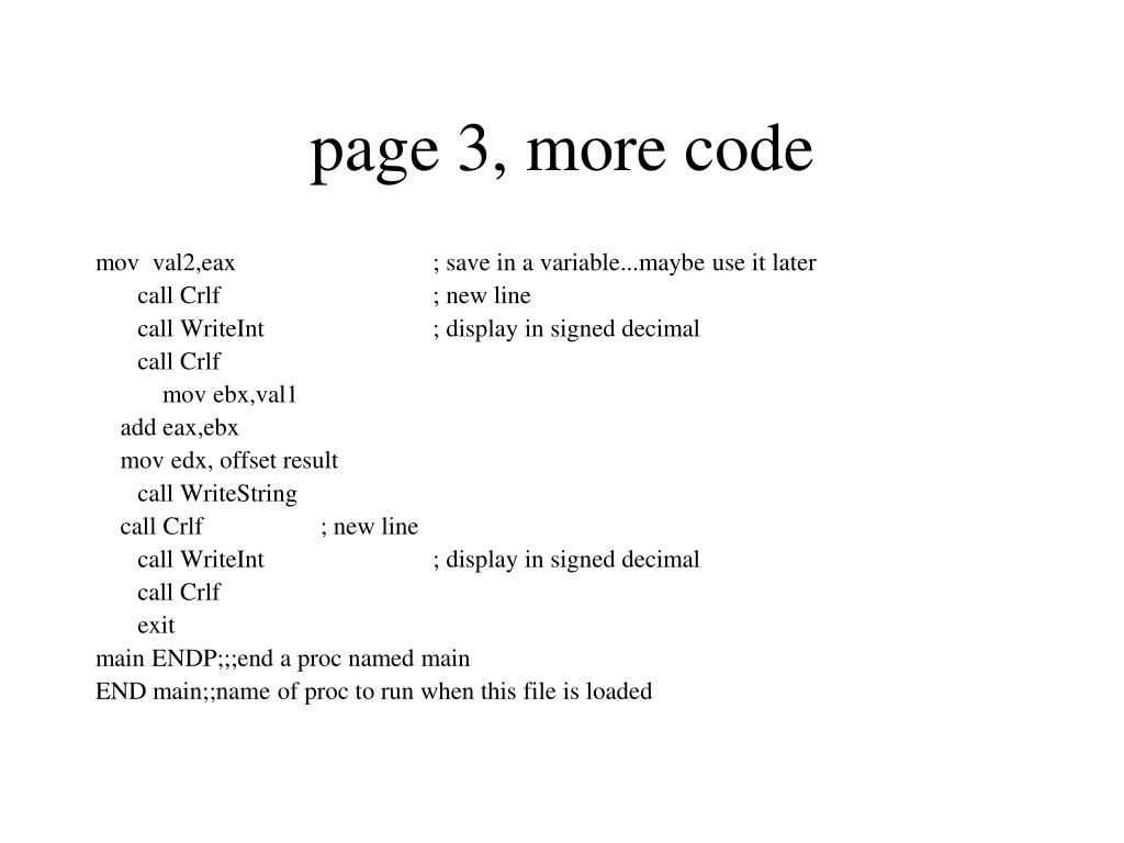 page 3, more code