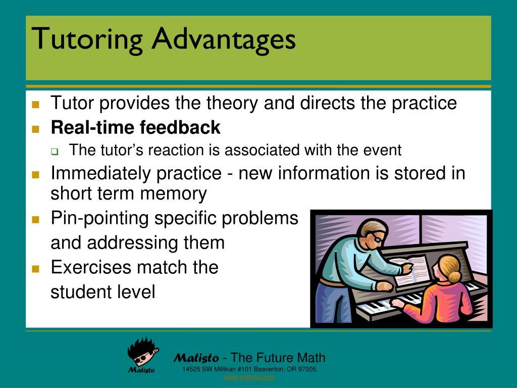 Tutoring Advantages