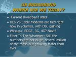us broadband where are we today