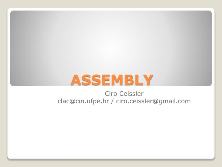 assembly n.