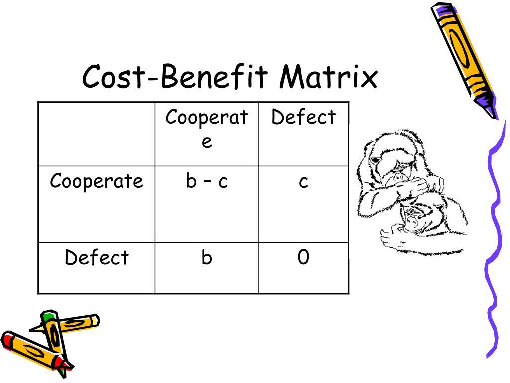 Cost-Benefit Matrix