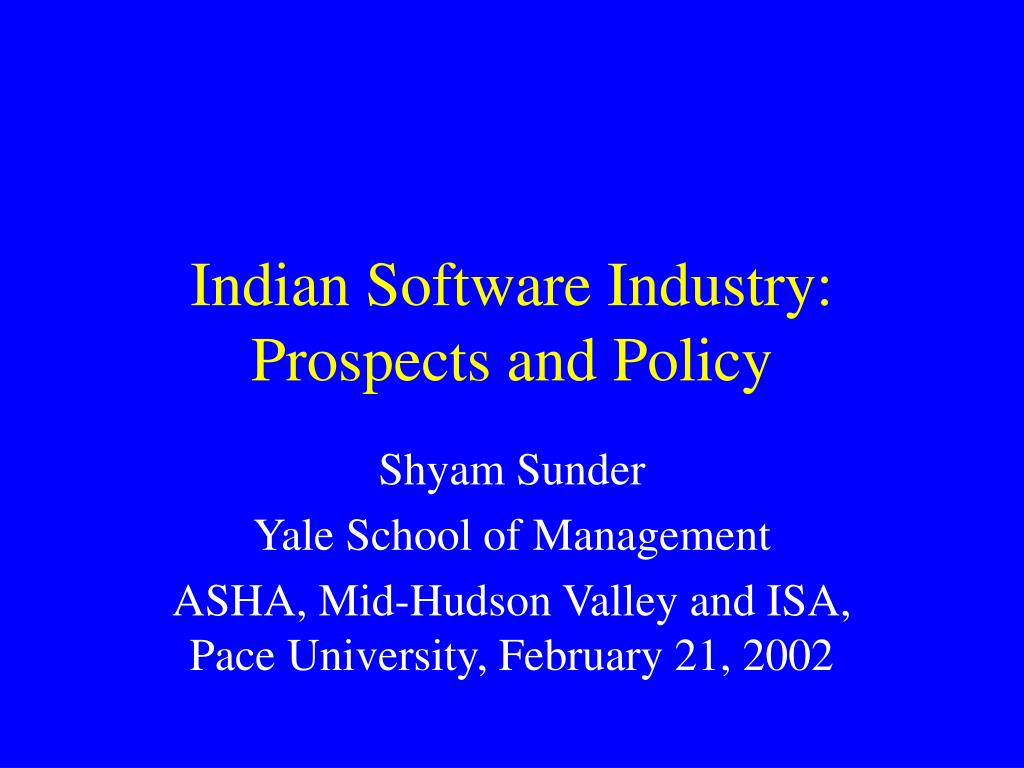 indian software industry prospects and policy l.