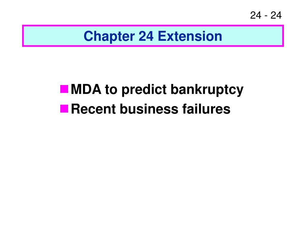 Chapter 24 Extension