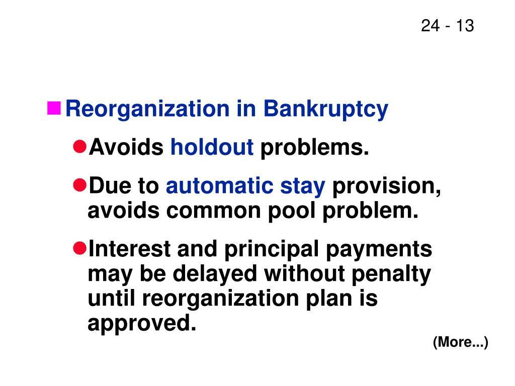 Reorganization in Bankruptcy
