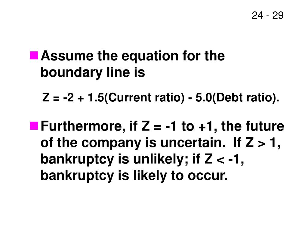 Assume the equation for the boundary line is