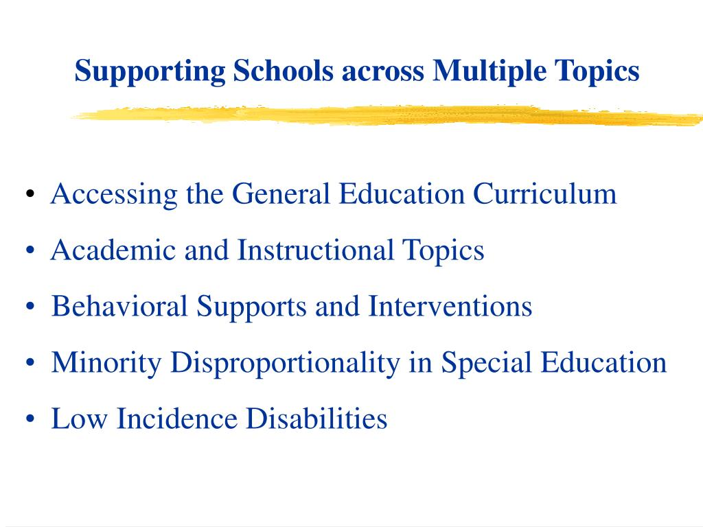 Supporting Schools across Multiple Topics