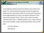feature driven development activities build feature list