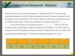 feature driven development milestones