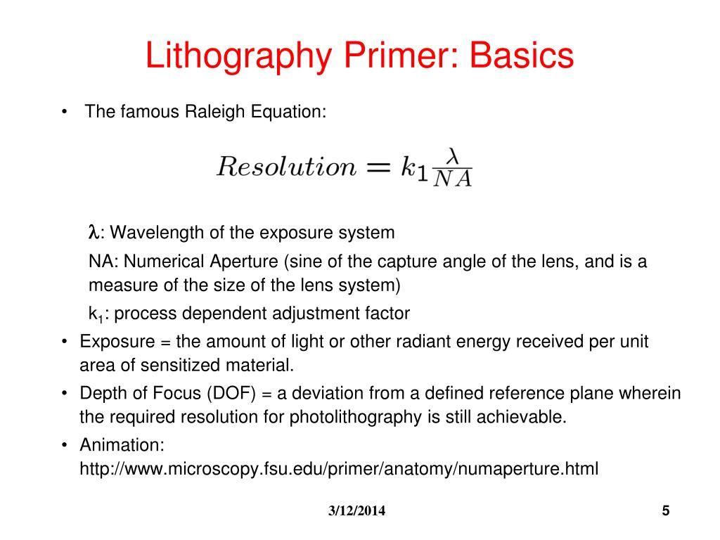 Chemistry of photolithography