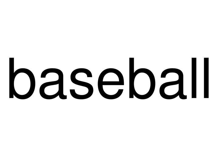 baseball n.