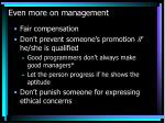 even more on management