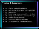 principle 3 judgement