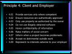 principle 4 client and employer