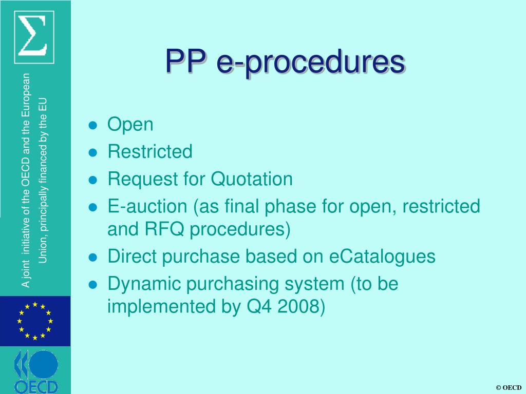 PP e-procedures