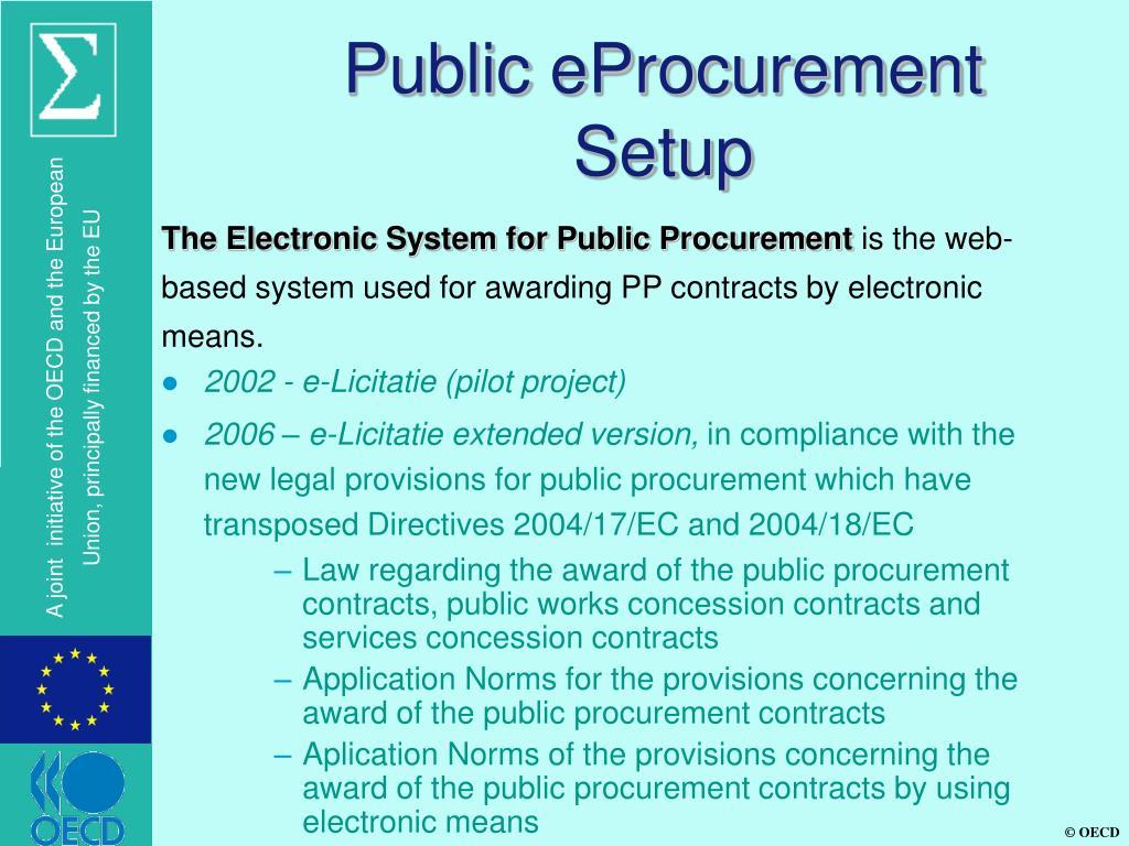 Public eProcurement Setup